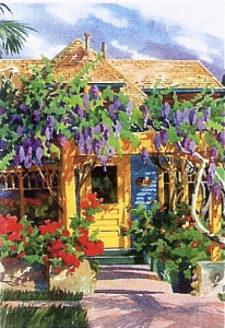 Wisteria Painting by Sharon Hinckley